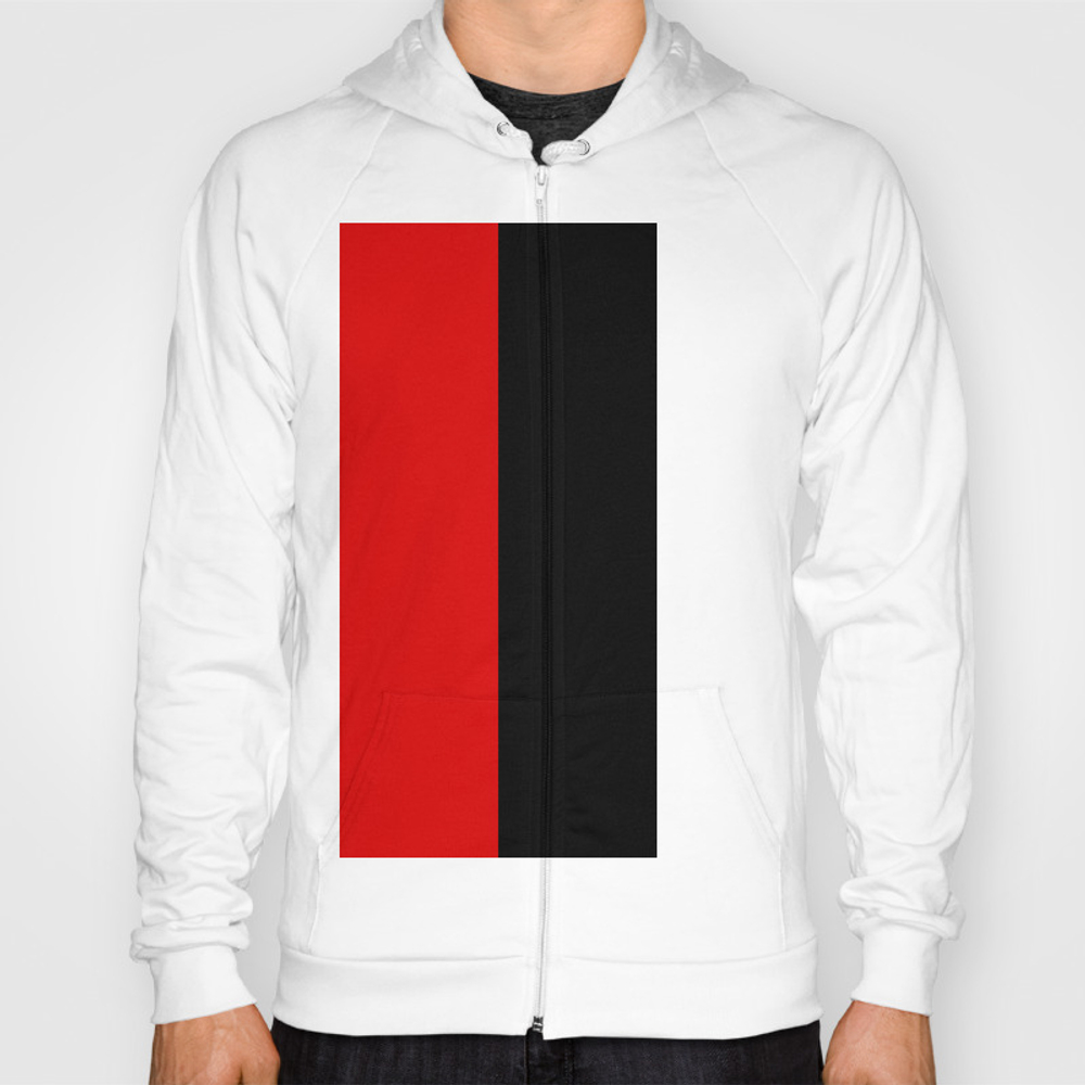Psychedelic Black And Red Stripes Vii. Hoody by Azraelwest SSR9053204