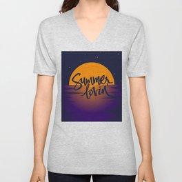 Orange Sunset (Summer Lovin') Unisex V-Neck