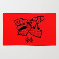 luigi Area & Throw Rugs featuring Mario & Luigi - BROS by La Manette