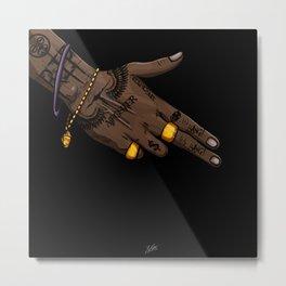 Taj's Gun  Metal Print