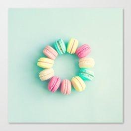 Macarons, macaroons circle, pop art Canvas Print