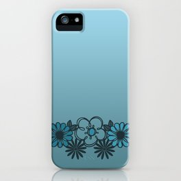 Kitschy Flower Medley Turquoise iPhone Case
