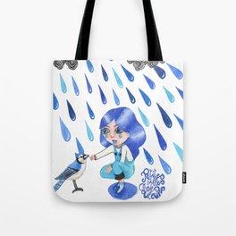 Petites filles des couleurs Bleu Tote Bag