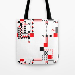 Tekno Abstrakt Tote Bag