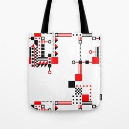 Tekno Abstrakt Tote Bag