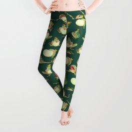FROOOOOOOOOOOOWG PATTERN dark green Leggings