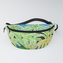 Palmtrees forest Fanny Pack