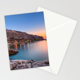 Sunset at Limeni in Mani, Greece  Stationery Cards
