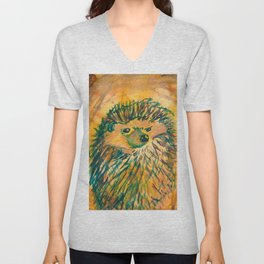 Angry Hedgehog Unisex V-Neck