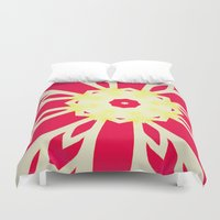 bow Duvet Covers featuring Christmas bow by Steve W Schwartz Art