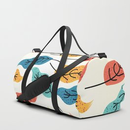 Colorful Autumn Leaves Illustration Duffle Bag
