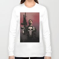 punisher Long Sleeve T-shirts featuring Punisher by Dave Seguin