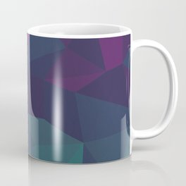 Abstract Geometric Gradient Pattern between dark Magenta and dark Cyan Coffee Mug