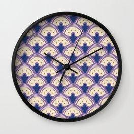 Fan Pattern Lavender and Blue 991 Wall Clock