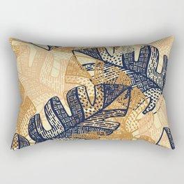 jungle tangle –navy, blush, gold Rectangular Pillow