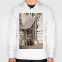 cabin Hoodies featuring Log Cabin by Rhonda Lain