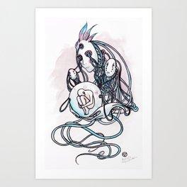 Masques de la machine Art Print