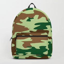 Camouflage Print Pattern - Greens & Browns Backpack