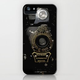 VINTAGE AUTOGRAPHIC BROWNIE FOLDING CAMERA iPhone Case