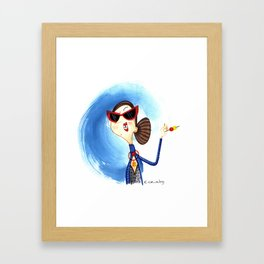 Cocktail Lady 1 Framed Art Print