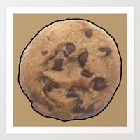 cookie Art Prints featuring Cookie by Spooky Dooky