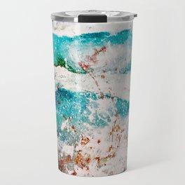 Abstract Waves Splatter Travel Mug