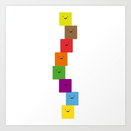 happy cubes Art Print