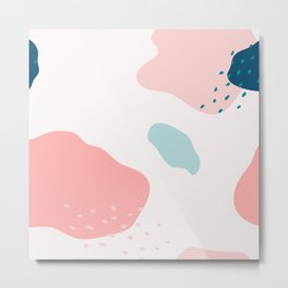Abstract Pink Blue Design Metal Print
