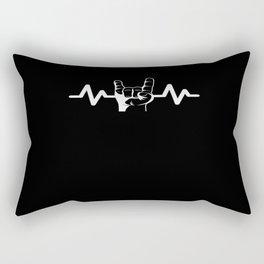 Heartbeat Rock Star Rock And Roll Rectangular Pillow