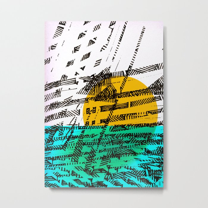 - the sunset - Metal Print