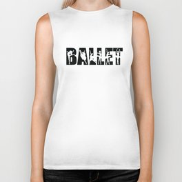 Ballet in Black with Ballerina Cutouts Biker Tank