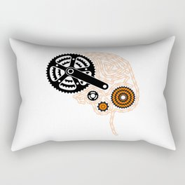 Brain Chain Colored Rectangular Pillow