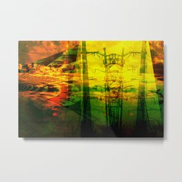 Transformer Sunset II Metal Print