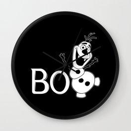 BOO - It's a Snowman! - HALLOWEEN Wall Clock