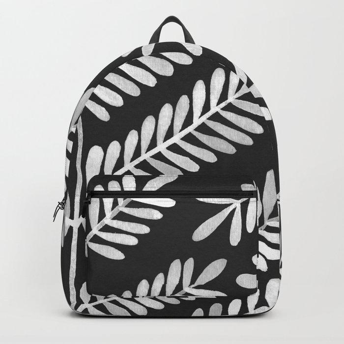 White Leaflets Backpack