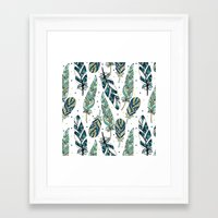 feathers Framed Art Prints featuring Feathers by Julia Badeeva