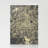 minneapolis Stationery Cards featuring Minneapolis Map by Map Map Maps