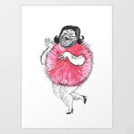 Fat Pom Pom Bloke Art Print