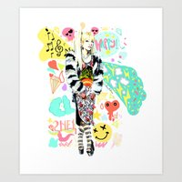 2ne1 Art Prints featuring 2NE1 Happy: CL by Haneul Home