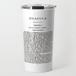 Dracula Bram Stoker First Page Travel Mug