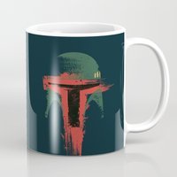 hunter Mugs featuring Bounty Hunter by Victor Vercesi