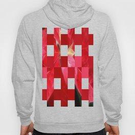 Mottled Red Poinsettia 2 Art Rectangles 15 Hoody