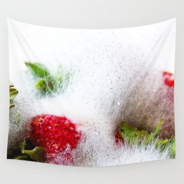 Strawberries in Focus Wall Tapestry