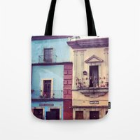 mexican Tote Bags featuring Mexican houses by Olivier P.