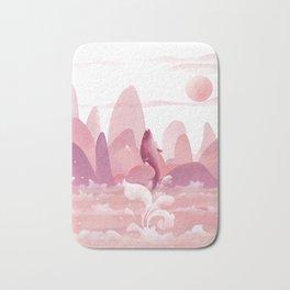 Fly Dolphin In The Sky Bath Mat