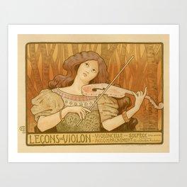 Violon lesson Art Print