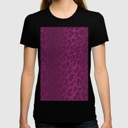 Purple Shadowed Leopard Print T-shirt
