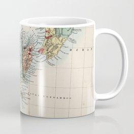 Vintage Map of New Zealand (1865) Coffee Mug