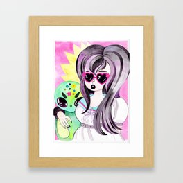 Alice and the Human Girl Framed Art Print