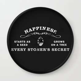 The Secret to Happiness Wall Clock